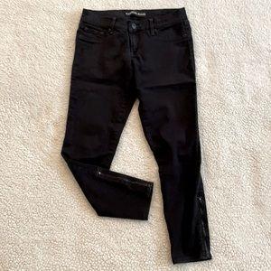 Express Black Size 4R Skinny Ankle Zip Jeans